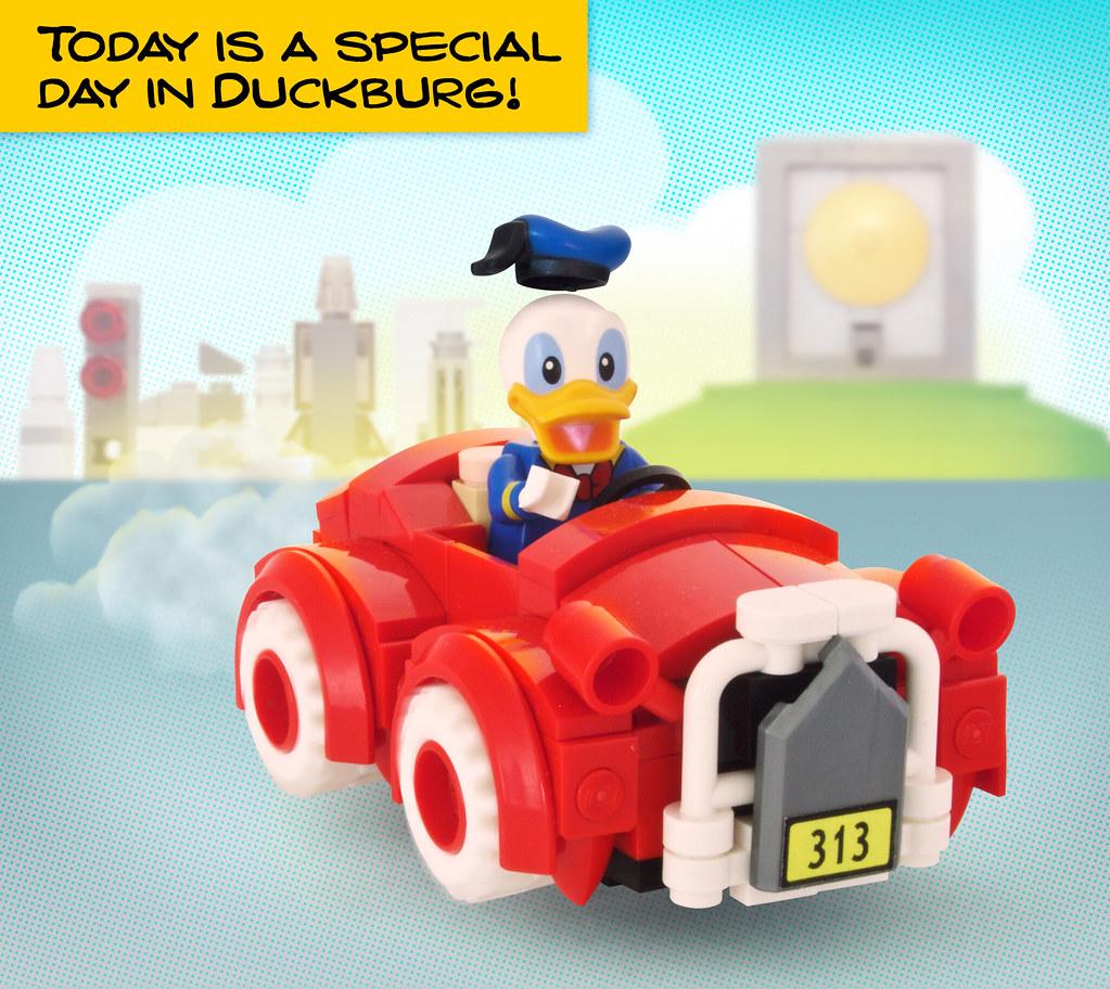 Donalds car in Duckburg