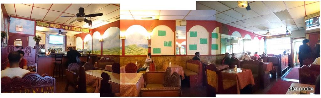 interior of Lalibela Ethiopian Restaurant