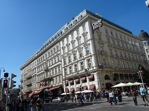 Wien, 1. Bezirk (the art of very renowned hotel buildings of Vienna), Kärntner Straße/Philharmonikerstraße/Herbert-von-Karajan-Platz (Hotel Sacher - Sacher Stube - Café Sacher)