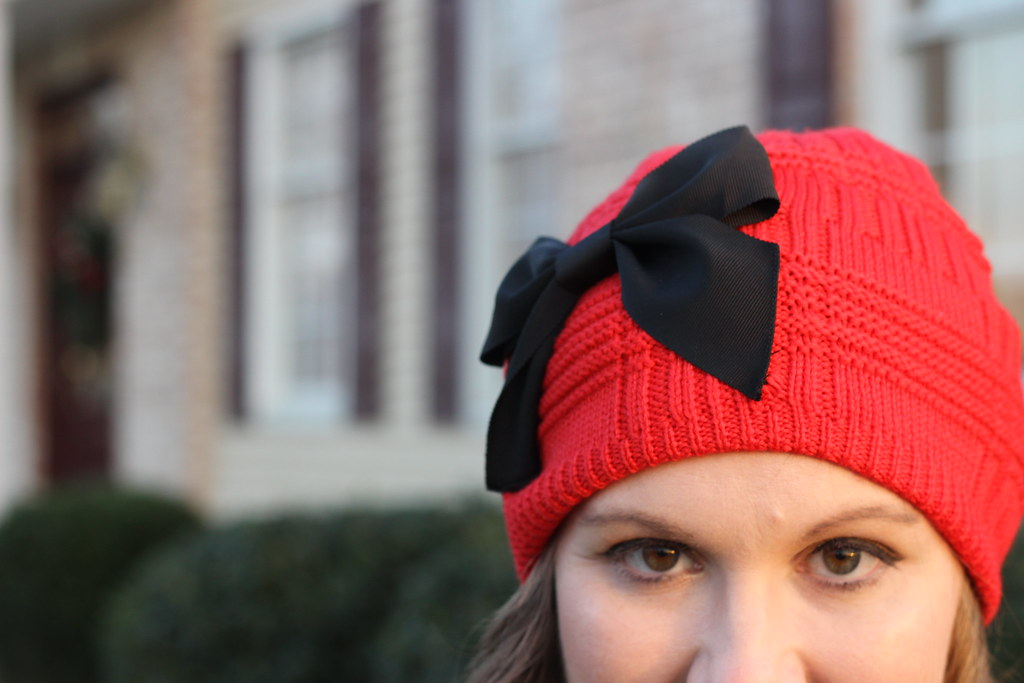 Kate Spade Red Bow Hat