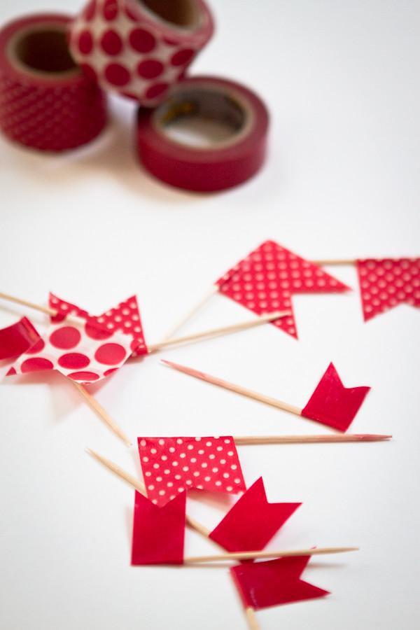 washi tape pinflag: close up