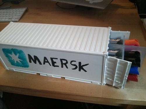 Maersk dry-erase container