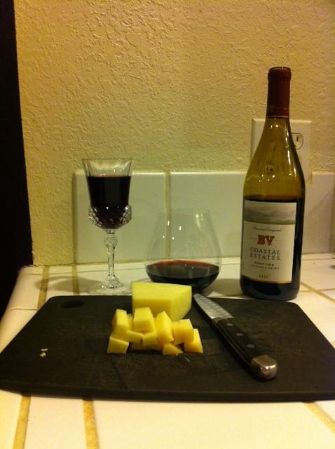 Pinot Noir and Gruyere 1