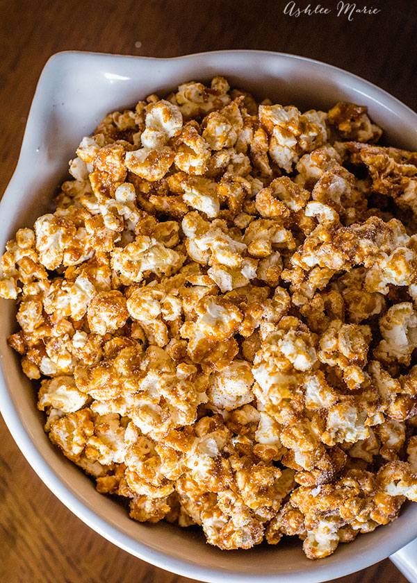 coated with a cinnamon crunch and sprinkled with cinnamon and sugar this churro popcorn aka french toast popcorn, is a delicious and easy treat