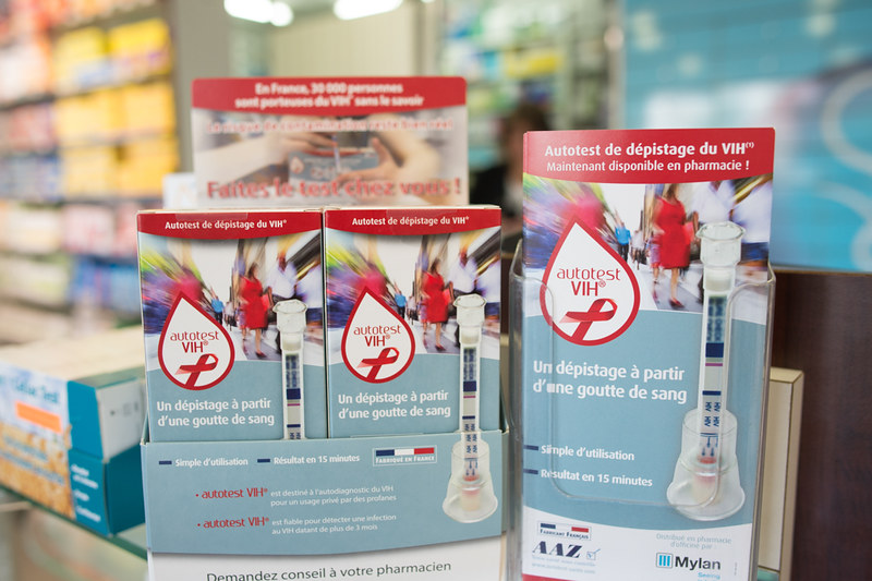 Mise à disposition des autotests de dépistage du VIH en pharmacie