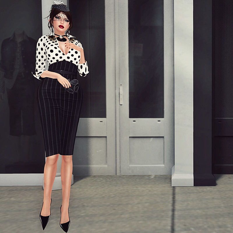 Do polka dots and stripes go together? Second Life