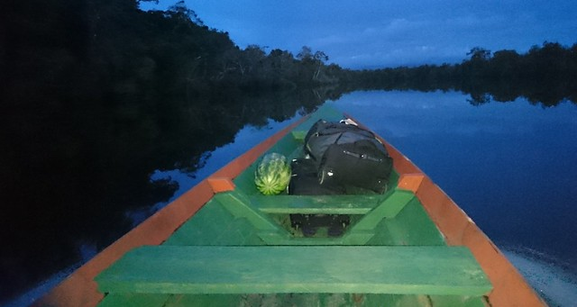 boat ride tupana river dusk