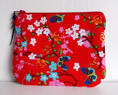 purse pouch makeup bag in pip studio fabric