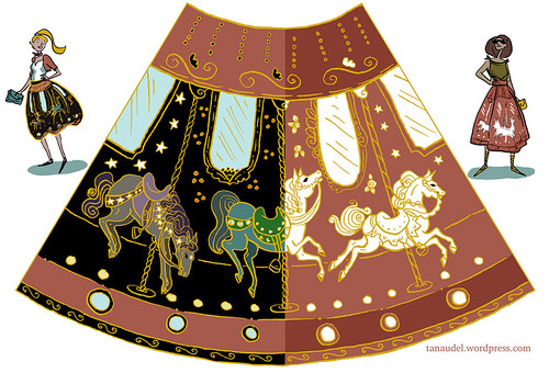 Illustration Friday: Orbit - skirt