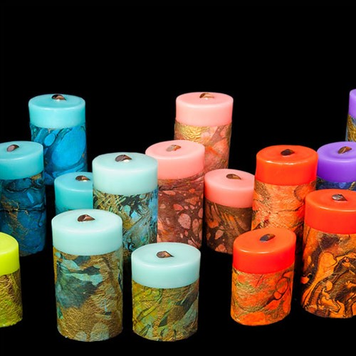 Marbled Momi Candles by Becky Hemby