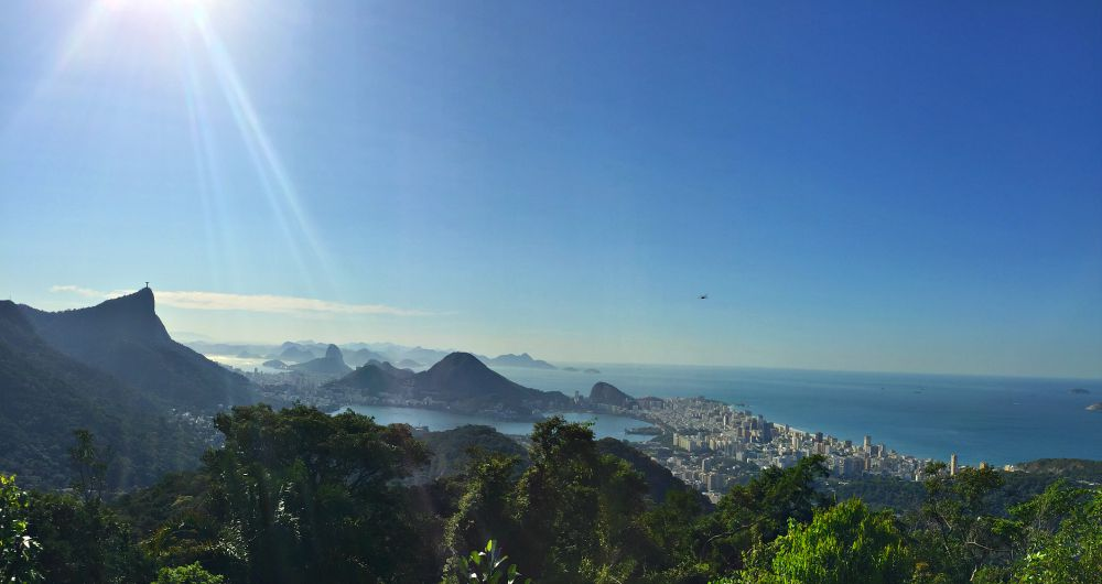 View from the Chinese Overlook in Rio de Janeiro