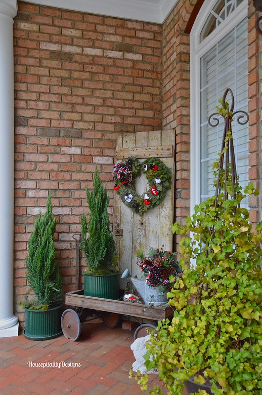 Valentine's Day Wreath/Weathered Door - Housepitality Designs