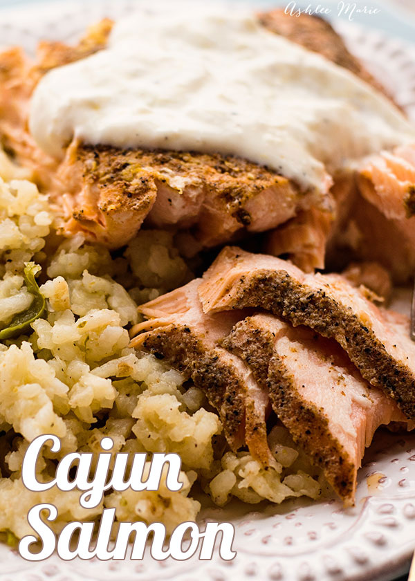 it doesn't get better than a good salmon dish, super spicy cajun spices served with a creamy lemon aoili