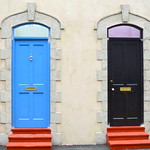 Fake doorways in Preston