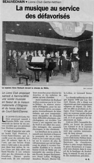 Chorale de Mélin 2003