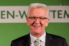 Grüne Wahlparty in der Staatsgalerie