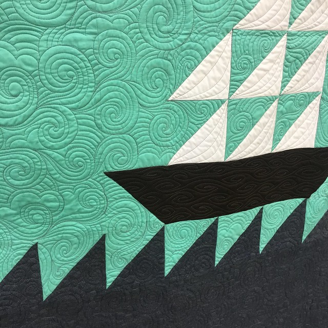 "close up of ""#ImOnABoat"" by Allison Chambers of San Antonio, Texas"