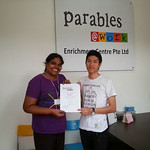 Ohm receiving his Certificate in Spoken English