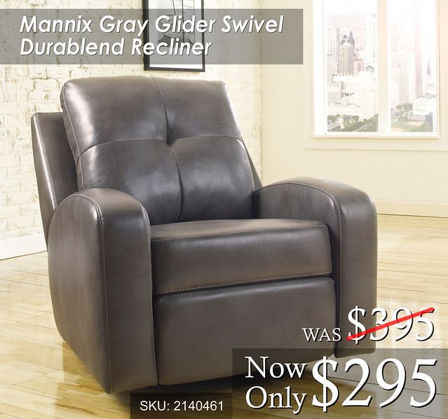 Mannix Gray Recliner