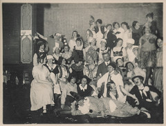Group of partiers in costume