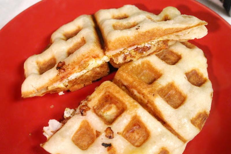 Stuffed Breakfast Waffle-wiches
