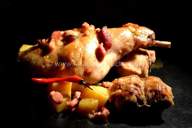 Lapin aux Pommes de Terre Sauce Au Vin Blanc & Lardons © Ana Luthi Tous droits réservés 24