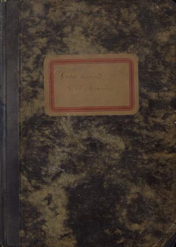 1949 - 1962 Kniha zápisů SČSP (182 stran)