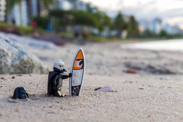 Darth Vader at the beach