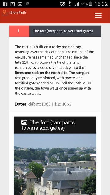 Capture écran istorypath app