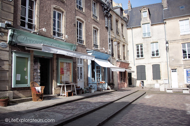 Shops in the streets of Bayeux