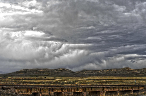 clouds wyoming hdr
