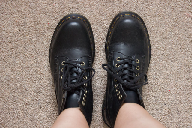 Vegan black doc martens