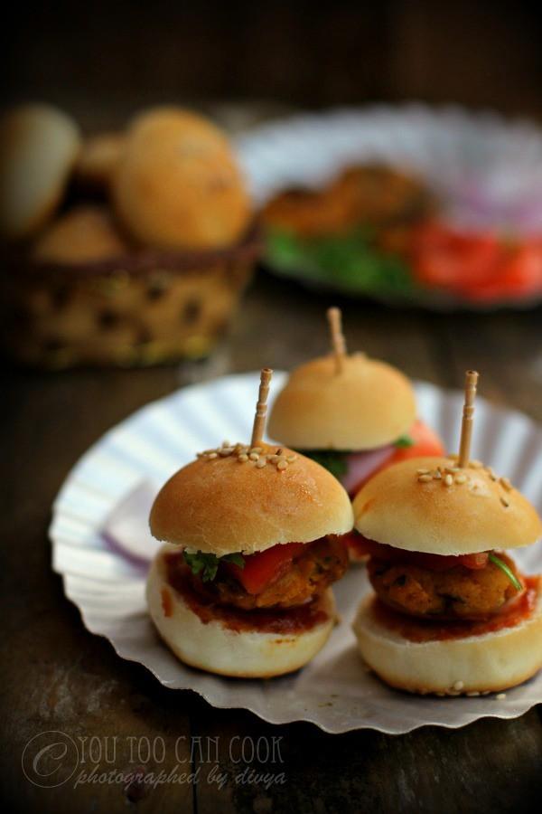 Mini Burgers   Mini Egg Burgers   Party Burger Idea   Cute Little Burgers Recipe