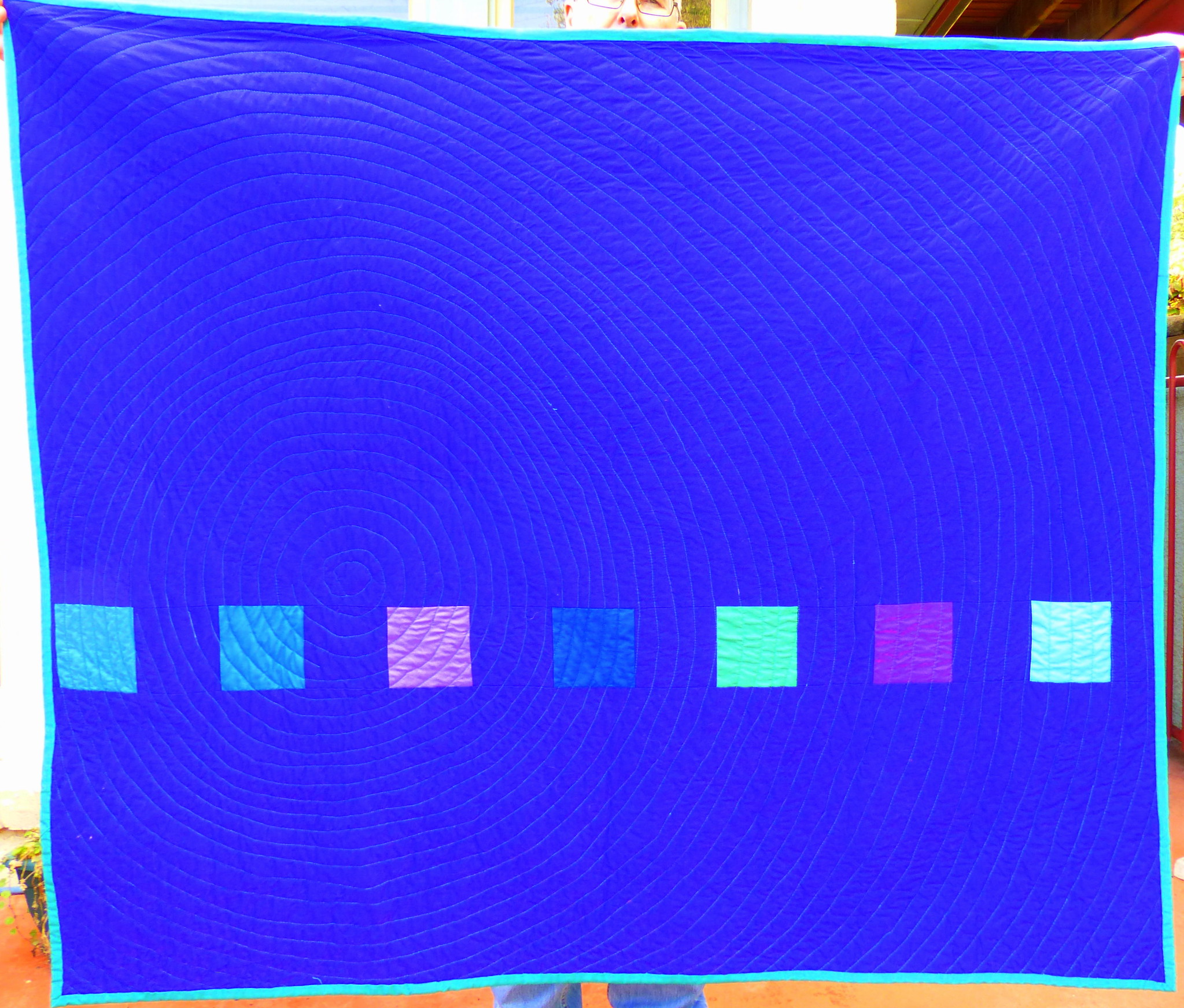 Verso of the Completed Equilateral Triangle Quilt