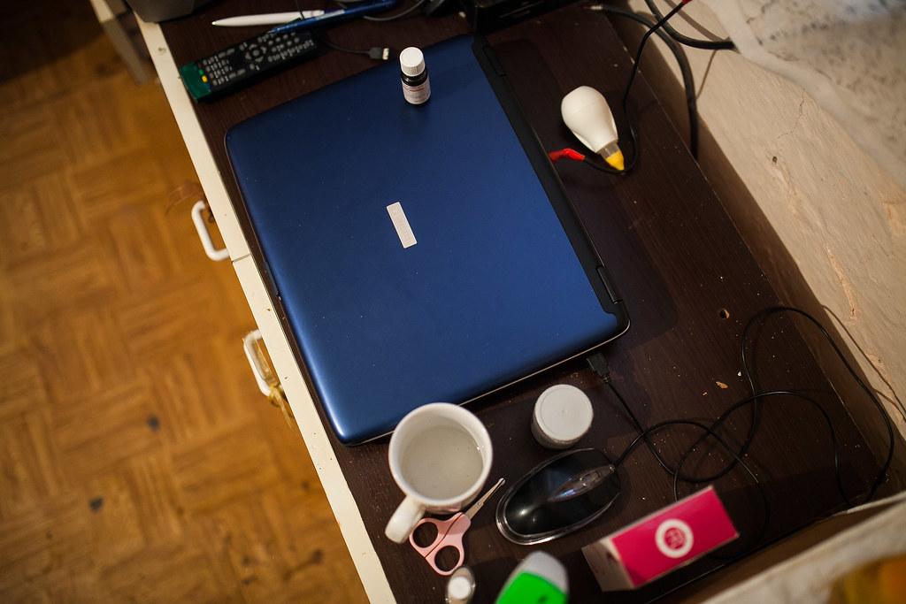 Egy régi laptop is van otthon, internetelérés viszont nincsen | Fotó: Magócsi Márton