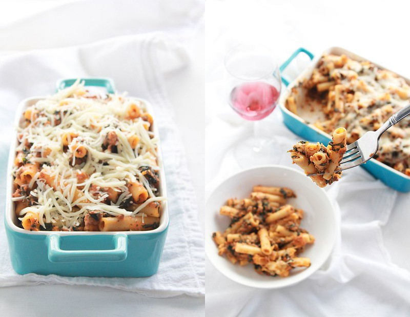 Ria's Collection: LASAGNA-STYLE BAKED ZITI