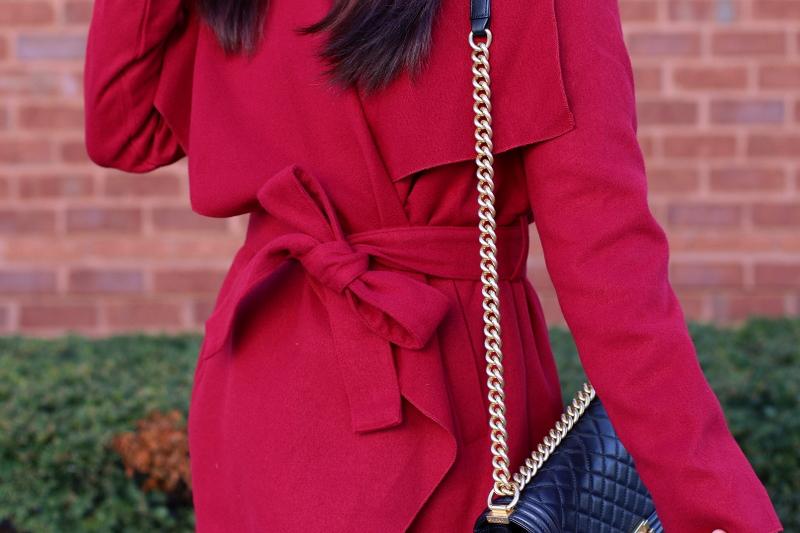 SheIn red coat