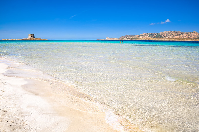 La Pelosa beach, north Sardinia (Italy)