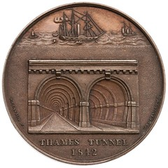 Opening of Thames Tunnel medal reverse