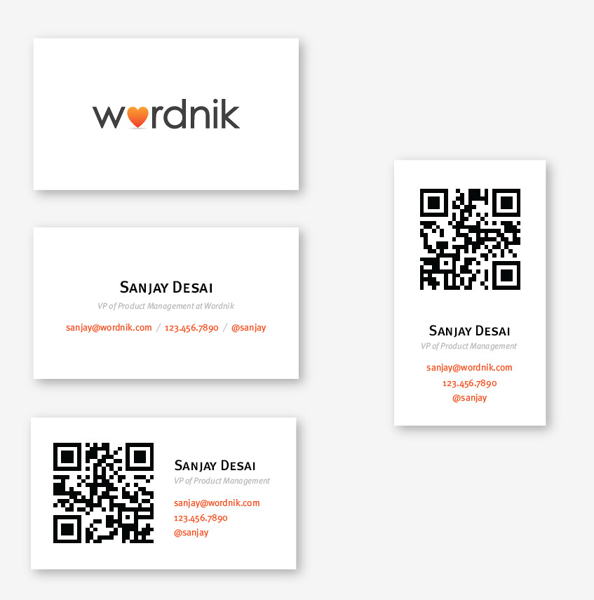 Wordnik Business Cards