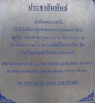 Thai tourist warning