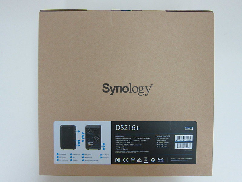 Synology DiskStation DS216+ - Box Back