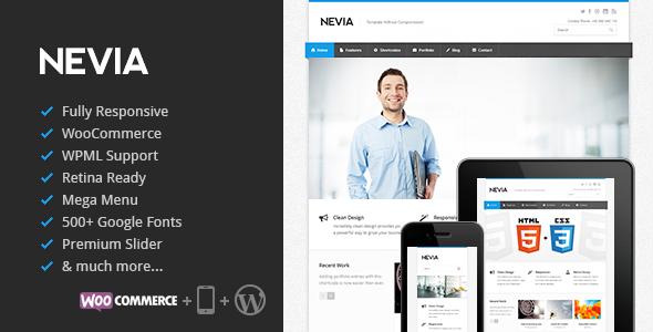 Nevia v1.5.13 - Responsive Multi-Purpose WordPress Theme