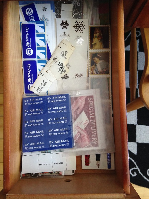 Sticker drawer: mail / writing, snowflakes