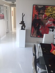 White Laminate Pedestal in Modern Home