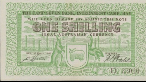 Australia Camp 7 One Shilling Note