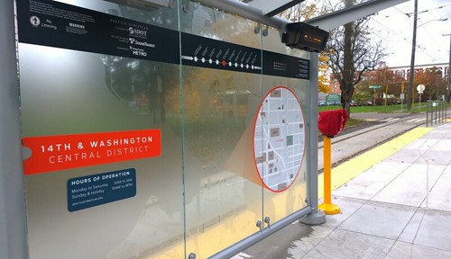 Seattle Streetcar transit shelter