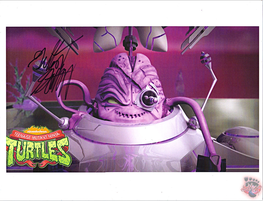 "Nickelodeon TEENAGE MUTANT NINJA TURTLES :: ""Kraang Subprime"" signed by GILBERT GOTTFRIED"