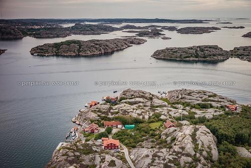sverige swe västragötaland bredvik bovallstrand flygfoto