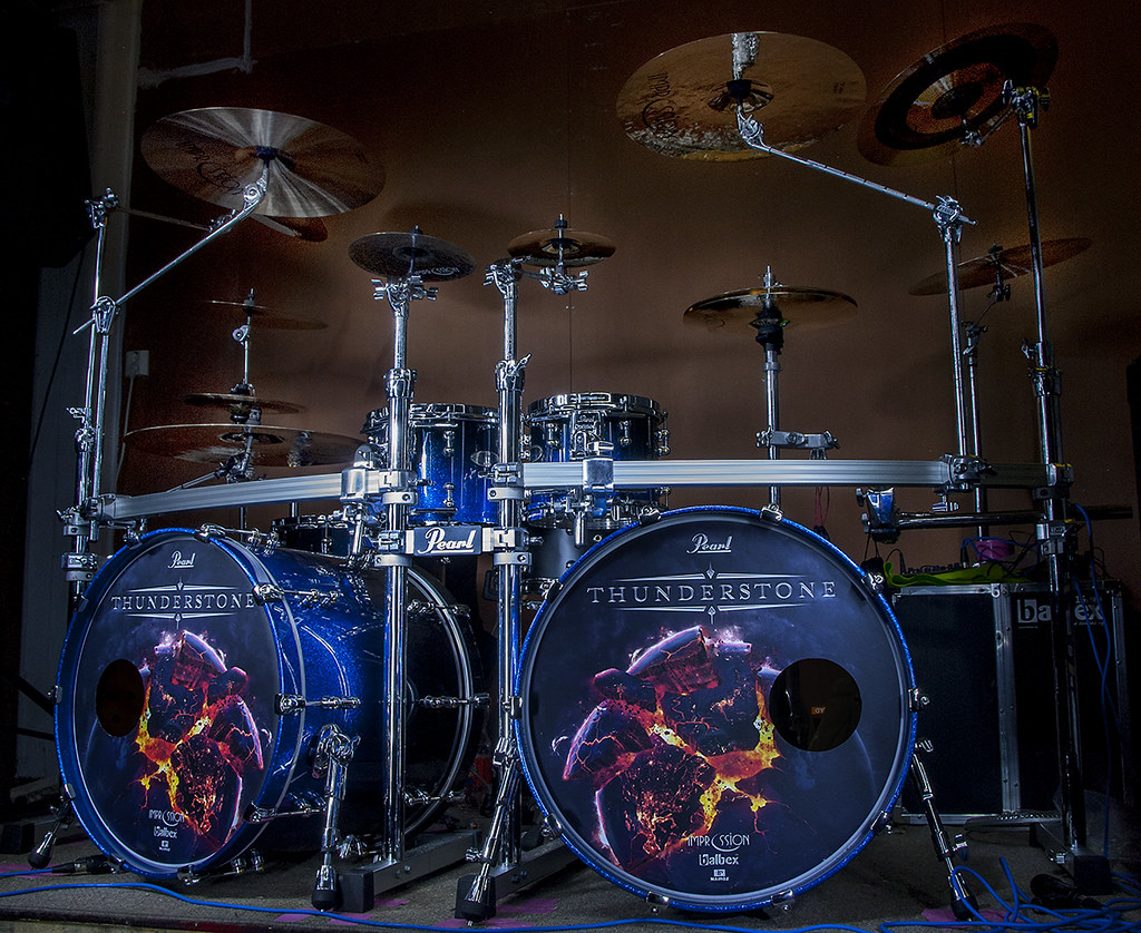 new pearl reference pure kit in ultra blue fade lots of pics. Black Bedroom Furniture Sets. Home Design Ideas